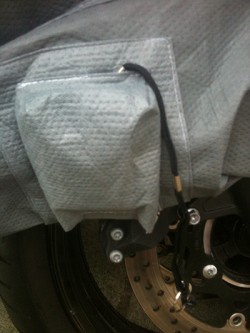Optional Bike Cover Integrated Alarm